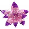 Motif Beaded with brooch Pin Flower Combo Fuchsia